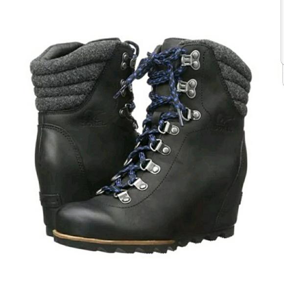 fc3ebe99c4d9 Sorel Conquest Women s Waterproof Wedge Boots 8